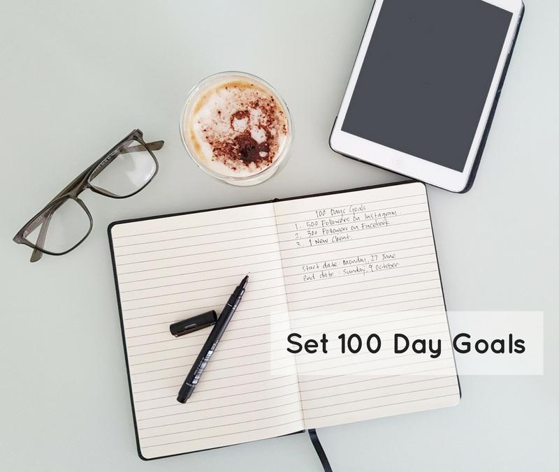 100 day goals
