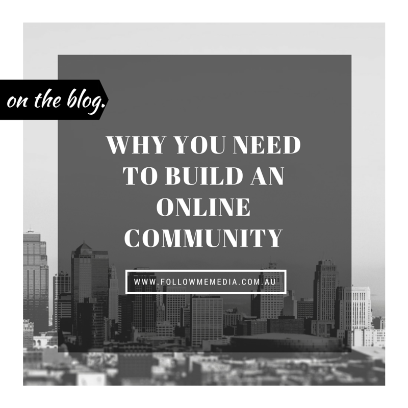 Why you need to build an online community